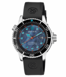 JUGGERNAUT IV SWISS AUTOMATIC – BLACK DIVER MOTHER OF PEARL DIAL STRAP_