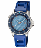 JUGGERNAUT IV SWISS AUTOMATIC – BLUE DIVER MOTHER OF PEARL DIAL STRAP_