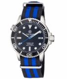 MASTER 1000 AUTOMATIC DIVER BLACK BEZEL -BLACK DIAL- BLUE SECOND HAND_