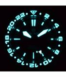 MASTER 500 42MM GMT AUTOMATIC DIVER- ETA 2893-2 SWISS MADE MOVEMENT BLACK/BLUE BEZEL – ORANGE GMT HAND_