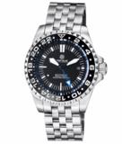 MASTER 2000 GMT AUTOMATIC DIVER- ETA 2893-2 SWISS MADE MOVEMENT BLACK BLUE_