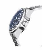 MASTER 2000 GMT AUTOMATIC DIVER- ETA 2893-2 SWISS MADE MOVEMENT BLACK/BLUE BEZEL – BLUE GMT HAND_
