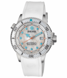 JUGGERNAUT IV SWISS AUTOMATIC – DIVER MOTHER OF PEARL WHITE DIAL STRAP_