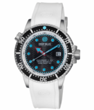 JUGGERNAUT IV USA SWISS AUTOMATIC – DIVER #4 BLACK/WHITE BEZEL - BLACK DIAL BRACELET_