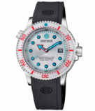 JUGGERNAUT IV USA SWISS AUTOMATIC – DIVER #5 WHITE/RED BEZEL - WHITE DIAL BRACELET_