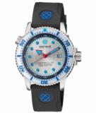 JUGGERNAUT IV USA SWISS AUTOMATIC – DIVER #6 WHITE/BLUE BEZEL - WHITE DIAL BRACELET_