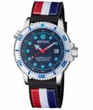 JUGGERNAUT IV USA SWISS AUTOMATIC – DIVER #8 WHITE/BLUE BEZEL - BLUE DIAL BRACELET_