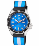 NATO DIVER 300 AUTOMATIC – SS DIVER BLACK BEZEL-LIGHT BLUE DIAL_