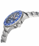 DAYNIGHT RESCUE GMT T-100 SWISS AUTOMATIC ETA 2893-2 BLACK/BLUE BEZEL- BLACK DIAL WHITE HANDS_