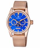 FLEET ADMIRAL 5 STAR – MASTER CALENDAR TRITIUM TUBES – ROSE GOLD CASE – BLUE DIAL_