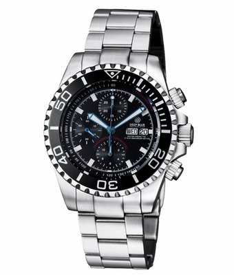 MASTER CHRONO 7750 AUTOMATIC DIVER BLACK DIAL