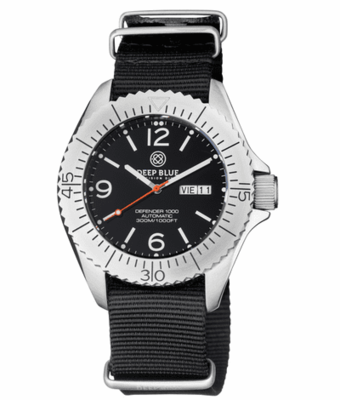 DEFENDER 1000 44MM AUTOMATIC SS CASE BLACK DIAL