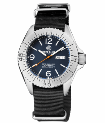 DEFENDER 1000 44MM AUTOMATIC SS CASE BLUE MATTE DIAL