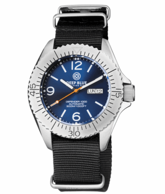 DEFENDER 1000 44MM AUTOMATIC SS CASE DARK BLUE SUNRAY DIAL