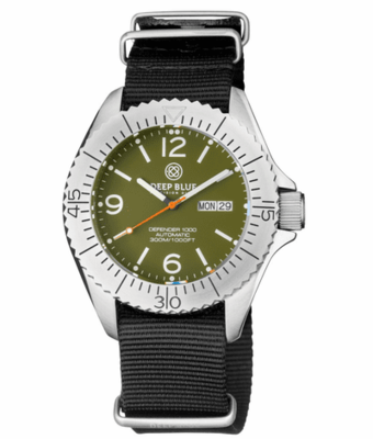 DEFENDER 1000 44MM AUTOMATIC SS CASE GREEN DIAL