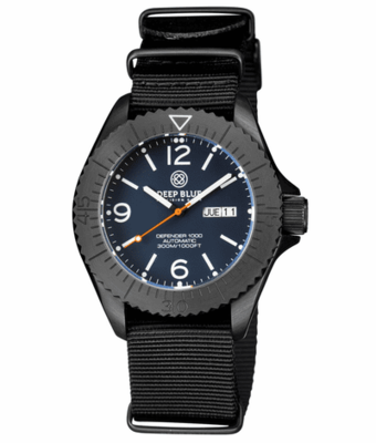 DEFENDER 1000 44MM AUTOMATIC PVD CASE BLUE MATTE DIAL