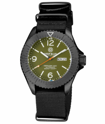 DEFENDER 1000 44MM AUTOMATIC PVD CASE GREEN DIAL