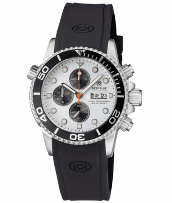 DIVER 1000 QUARTZ CHRONOGRAPH DIVER BLACK BEZEL -WHITE DIAL- BLACK SUBDIALS