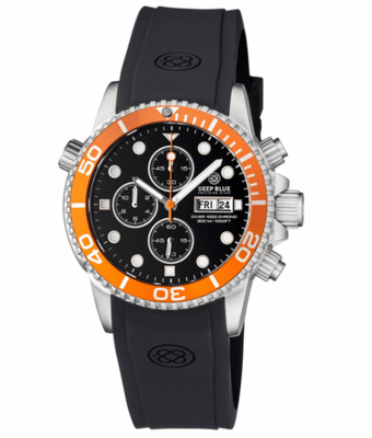DIVER 1000 QUARTZ CHRONOGRAPH DIVER ORANGE BEZEL – BLACK DIAL