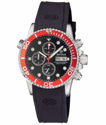 DIVER 1000 QUARTZ CHRONOGRAPH DIVER RED BEZEL – BLACK DIAL