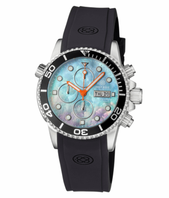DIVER 1000 QUARTZ CHRONOGRAPH DIVER BLACK BEZEL -PLATINUM MOTHER OF PEARL DIAL