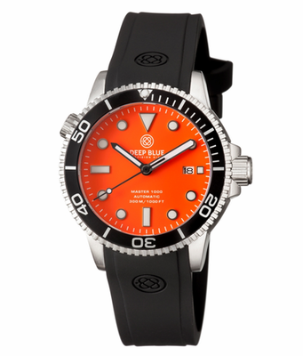 MASTER 1000 AUTOMATIC DIVER BLACK BEZEL -ORANGE MATTE DIAL