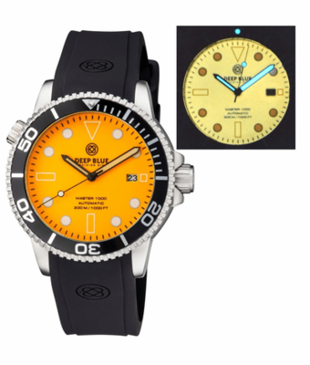 MASTER 1000 AUTOMATIC DIVER BLACK BEZEL - ORANGE FULL LUMINOUS DIAL