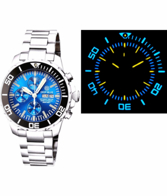 DAYNIGHT RECON 7750 VALJOUX TRITIUM T-100 BLUE