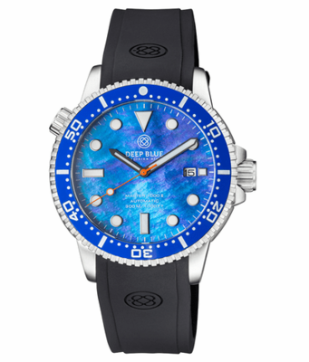 MASTER 1000 II 44MM AUTOMATIC DIVER BLUE CERAMIC BEZEL -BLUE MOTHER OF PEARL