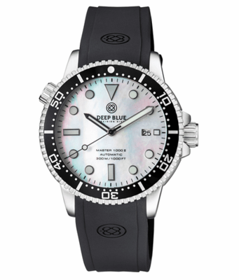MASTER 1000 II 44MM AUTOMATIC DIVER BLACK CERAMIC BEZEL -WHITE MOTHER OF PEARL DIAL