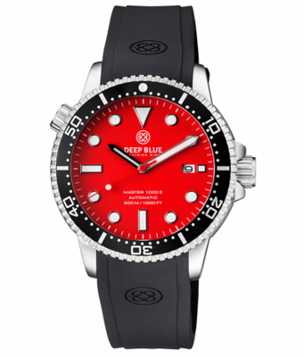 MASTER 1000 II 44MM AUTOMATIC DIVER BLACK CERAMIC BEZEL -RED MATTE DIAL