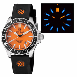 DAYNIGHT MIL T100 TRITIUM BLUE FLAT TUBES -ORANGE DIAL