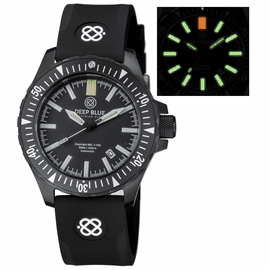 DAYNIGHT MIL T-100 TRITIUM GREEN FLAT TUBES- BLACK PVD CASE /BLACK DIAL