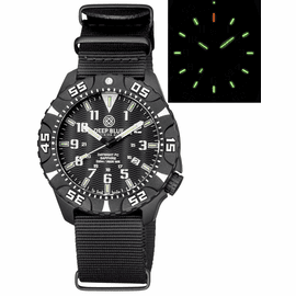 DAYNIGHT DIVER PC TRITIUM WATCH BLACK/WHITE BEZEL - BLACK DIAL