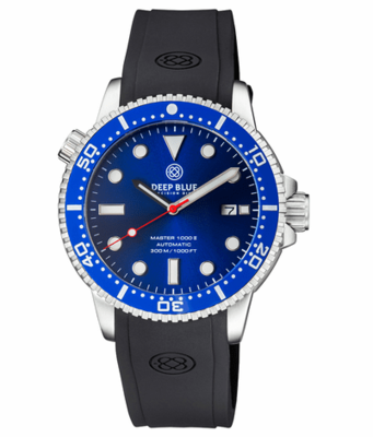 MASTER 1000 II 44MM AUTOMATIC DIVER BLUE CERAMIC BEZEL -DARK BLUE SUNRAY DIAL-RED SECOND HAND