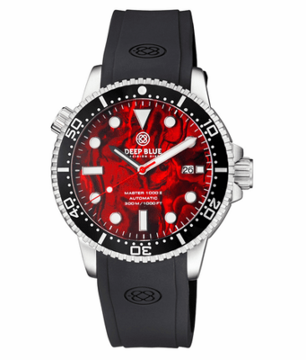 MASTER 1000 II 44MM AUTOMATIC DIVER BLACK CERAMIC BEZEL -RED ABALONE DIAL