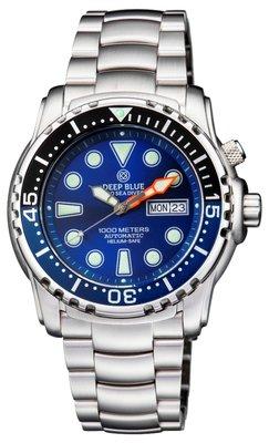 PRO SEA DIVER 1000M BRACELET BLACK/BLUE 15 30 45 BEZEL – BLUE DIAL