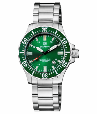 DAYNIGHT 45 TRITDIVER T-100 TRITIUM TUBES AUTOMATIC GREEN BEZEL- GREEN DIAL