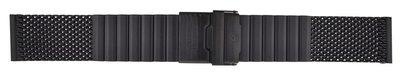22, 24, 26MM MESH BRACELET PVD BLACK STAINLESS STEEL