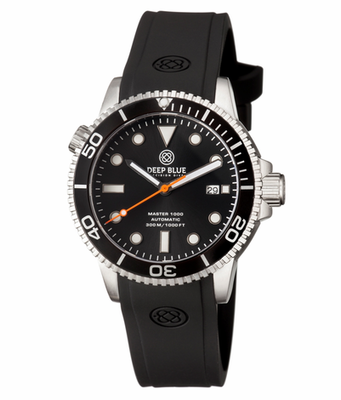 MASTER 1000 AUTOMATIC DIVER BLACK BEZEL -BLACK DIAL- ORANGE SECOND HAND