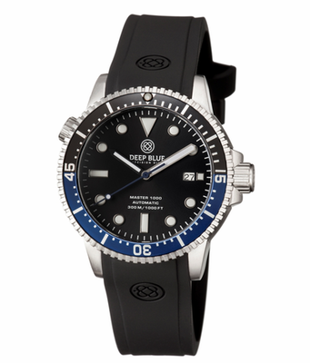 MASTER 1000 AUTOMATIC DIVER -BLACK/BLUE BEZEL -BLACK DIAL