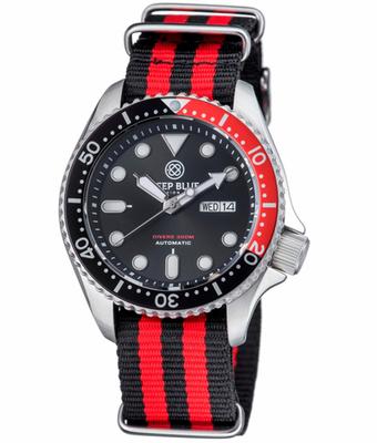 NATO DIVER 300 AUTOMATIC – SS DIVER RED/ BLACK BEZEL -BLACK DIAL