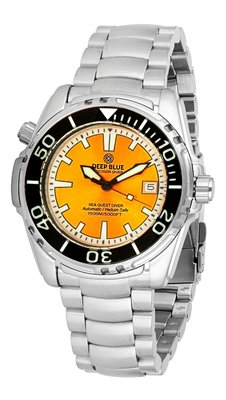 SEA QUEST 42MM 1500M AUTOMATIC DIVER YELLOW