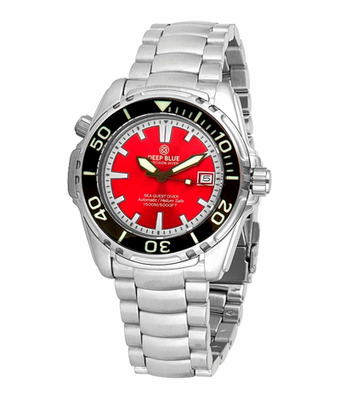 SEA QUEST 42MM 1500M AUTOMATIC DIVER RED