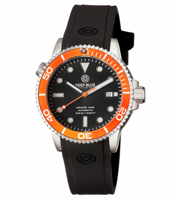 MASTER 1000 AUTOMATIC DIVER ORANGE BEZEL -BLACK DIAL