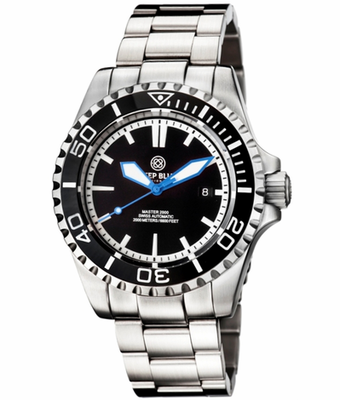 MASTER 2000 SWISS AUTOMATIC DIVER – BLACK-BLACK-BLUE