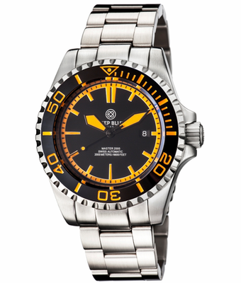 MASTER 2000 SWISS AUTOMATIC DIVER – BLACK/ORANGE-BLACK-ORANGE