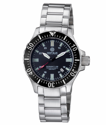 DAYNIGHT TRITDIVER T-100 AUTOMATIC BLACK BEZEL- BLACK DIAL