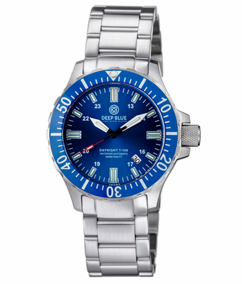 DAYNIGHT TRITDIVER T-100 AUTOMATIC BLUE BEZEL –DARK BLUE DIAL