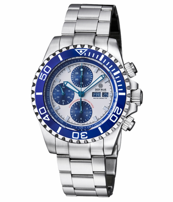 MASTER CHRONO 7750 AUTOMATIC DIVER BLUE – WHITE